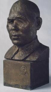 VERA MUKHINA. PORTRAIT OF COLONEL BARIY YUSUPOV. 1942