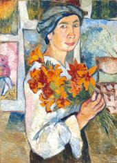 Self-po rtrait with Yellow Lilies. 1907