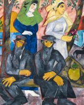 Jews (Shabbat). 1911. Detail