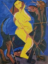 """Maid on a Beast. """"Harvest"""" Series. 1911"""
