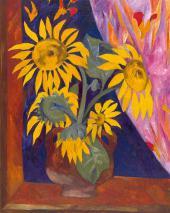 Natalia Goncharova Sunflowers. 1910