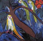 Natalia Goncharova. Parrots. 1910