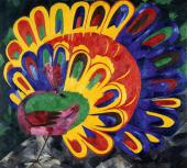 NATALIA GONCHAROVA. Peacock in bright sunlight (Egyptian style). 1911
