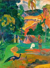 Paul Gauguin. MATA MOE (the royal end). Landscape with Peacocks. 1892