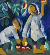 Natalia Goncharova. Picking apples. 1911