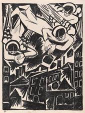 """Doomed City. 1914. From the album """"Images mystique de la guerre"""""""