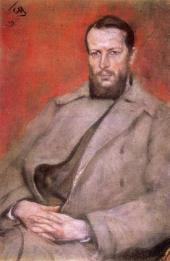 Sergei Malutin. Portrait of Nikolai Vinogradov. 1919