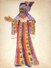 "As trologer Costume design for ""Le Coq d'Or "" (The Golden Cockerel)"