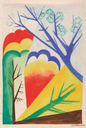 Natalia Goncharova. Landscape. Spring 1926-1927