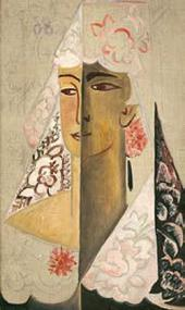 Natalia Goncharova. Head of a Spanish Woman. 1918-1922