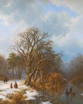 Barend Koekkoek. Winter landscape. 1837