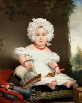 Jan Kruseman. Portrait of Catharina Elisabeth Rente Linsen in Childhood. 1831