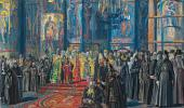 "sketch for the painting ""The Pass ing of Rus '"". 1935-1959"