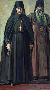 The Hieromonk and the Bishop (Hieromonk Pimen and Bishop Antonin). 1935