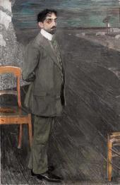 Portrait of Mikhail Kuzmin. 1910