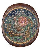 "Decorative Dish ""The Firebird"". Majolica"