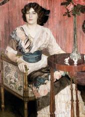 Portrait of Valentina Kuza (?). 1900s