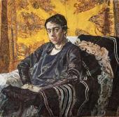 Portrait of Nadezhda Dobychina. 1920