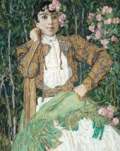 A Spanish Woman in Green. 1906-1907
