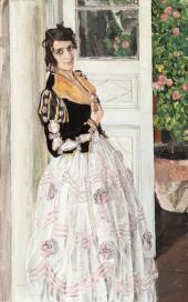 A Spanish Woman on a Balcony. 1911