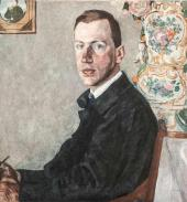 Portrait of Erich Gollerbakh. 1923