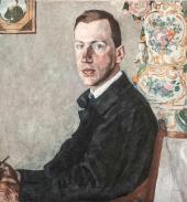 Portrait of Erich Gollerbakh. 1923