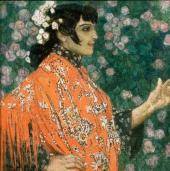 A Spanish Woman in Red. 1906-1907