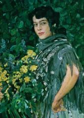 A Spanish Woman with a Bunch of Yellow Flowers. 1906-1907
