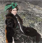 Portrait of Ballerina Yelena Smirnova. 1910