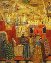 "The Hall of the Facets. Set design to ""Boris Godunov"", opera by Modest Mussorgsk"