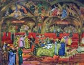 "Konstantin Yuon. The Hall of the Facets Set design to ""Boris Godunov"""