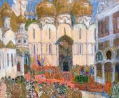 "A Square in the Kremlin Set design to ""Boris Godunov"", opera by Modest Mussorgsk"