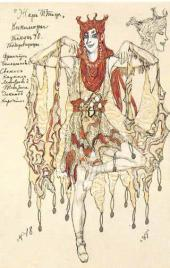 "Kikimora. Costume design to ""The Firebird"", ballet by Igor Stravinsky. Mariinsky"