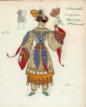 "A Tatar Woman. Costume design to ""Masquerade"", drama by Mikhail Lermontov"