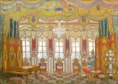 "At Baroness Shtral's. Set design to ""Masquerade"", drama by Mikhail Lermontov"