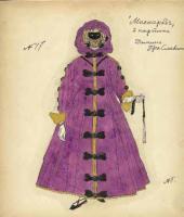 """Mauve Domino. Costume design. """"Masquerade"""" by Mikhail Lermontov. Scene 2"""