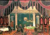 "The Scene with Card Players ""Masquerade"" by Mikhail Lermontov. Set design. Scene"