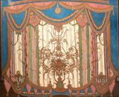 "Sketch of the Curtain for Scene 8 (Ballroom). ""Masquerade"" by Mikhail Lermontov"
