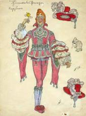 "Cherubino. Costume design for ""The Marriage of Figaro, or The Day of Madness"""