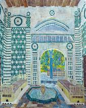 "Courtyard Pool. Set design for ""Othello"""