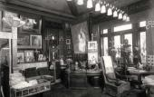 Alexei Bakhrushin's study in his Moscow mansion (now Bakhrushin Theatre Museum)