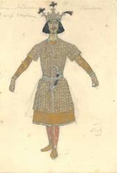 "Alexander Golovin. Male costume design for the dance ""Lezghinka"""