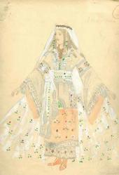 Alexander Golovin Lyudmila's costume design. Act 3