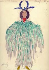 Alexander Golovin, Gurly Telyakovskaya. Female costume design. Act 4. Chorus