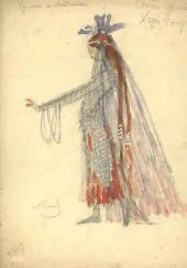 Alexander Golovin, Gurly Telyakovskaya. Female costume design. Act 4 Chorus