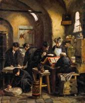 Yelena Polenova. An Icon-Painting Workshop in the 16th Century. 1887