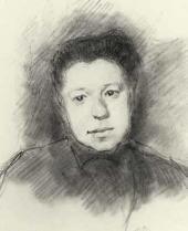 Ilya Ostroukhov. Portrait of Yelena Polenova. 1884
