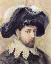 Yelena Polenova. Portrait of Alexander Golovi n (in Spanish costume)