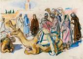 Zinaida Serebryakova. Market with Camels. Marrakesh. 1932