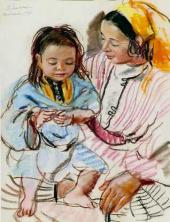 Zinaida Serebryakova. Mother with Child. 1928